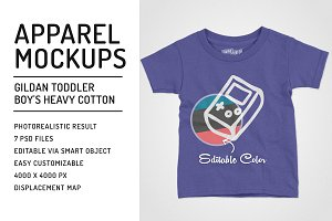 Gildan Toddler Boy's T-Shirt Mockups