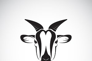 Vector of goat head design.
