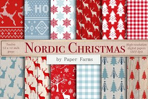 Nordic Christmas digital paper