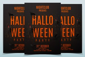 Dark party flyer for halloween