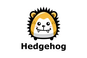 Cartoon Hedgehog Logo Template
