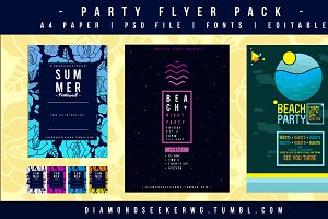 Party Flyers Pack (7 Choices)