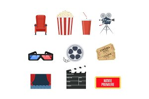 Cinema set of design elements