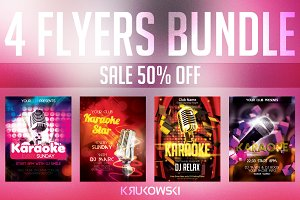 Karaoke Flyers Bundle