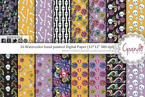 Day of the dead digital paper