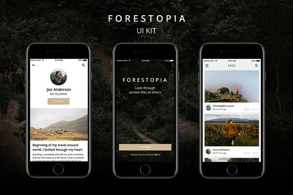 Web Elements: HNINE - Forestopia UI Kit
