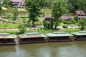 Resort is on a river.
