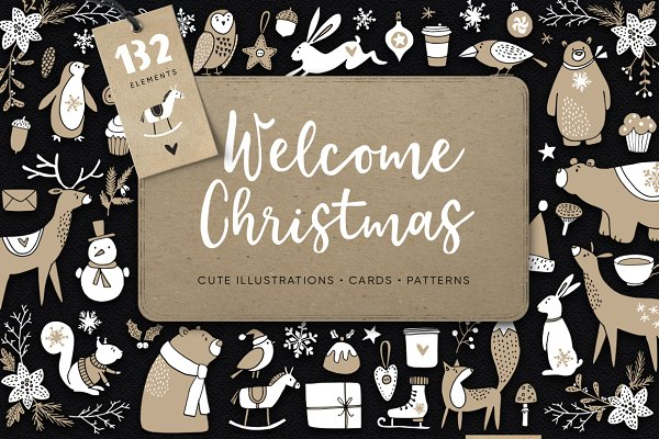 Welcome Christmas set, 132 elements