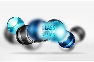 3d techno glass bubble design