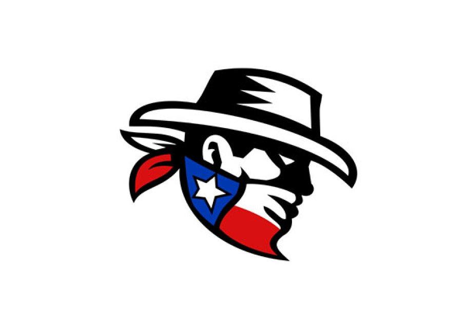 df7d6aee1f8 Texas Bandit Cowboy Side Retro ~ Illustrations ~ Creative Market