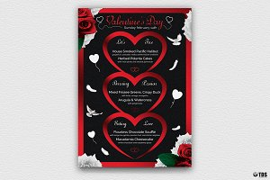 Valentines Day Menu Template V4