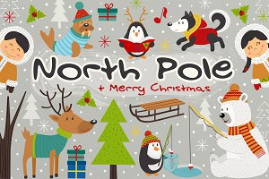 North Pole and Merry Christmas