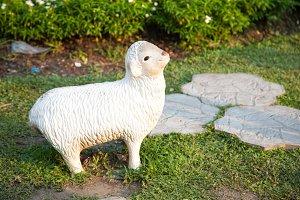Sheep statue.
