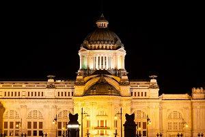 palace at night.