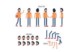Man Character Generator Flat Vector
