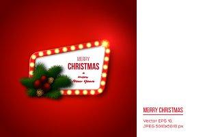 Christmas retro frame
