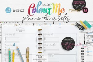 US Letter ColourMe Planner Templates