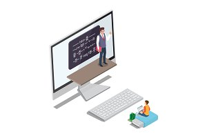 Online Learning Concept Vector with Teacher Pupil