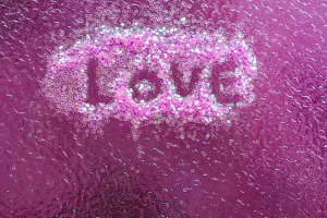 Love letter writen on pink