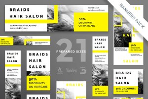 Banners Pack | Braids Hair Salon