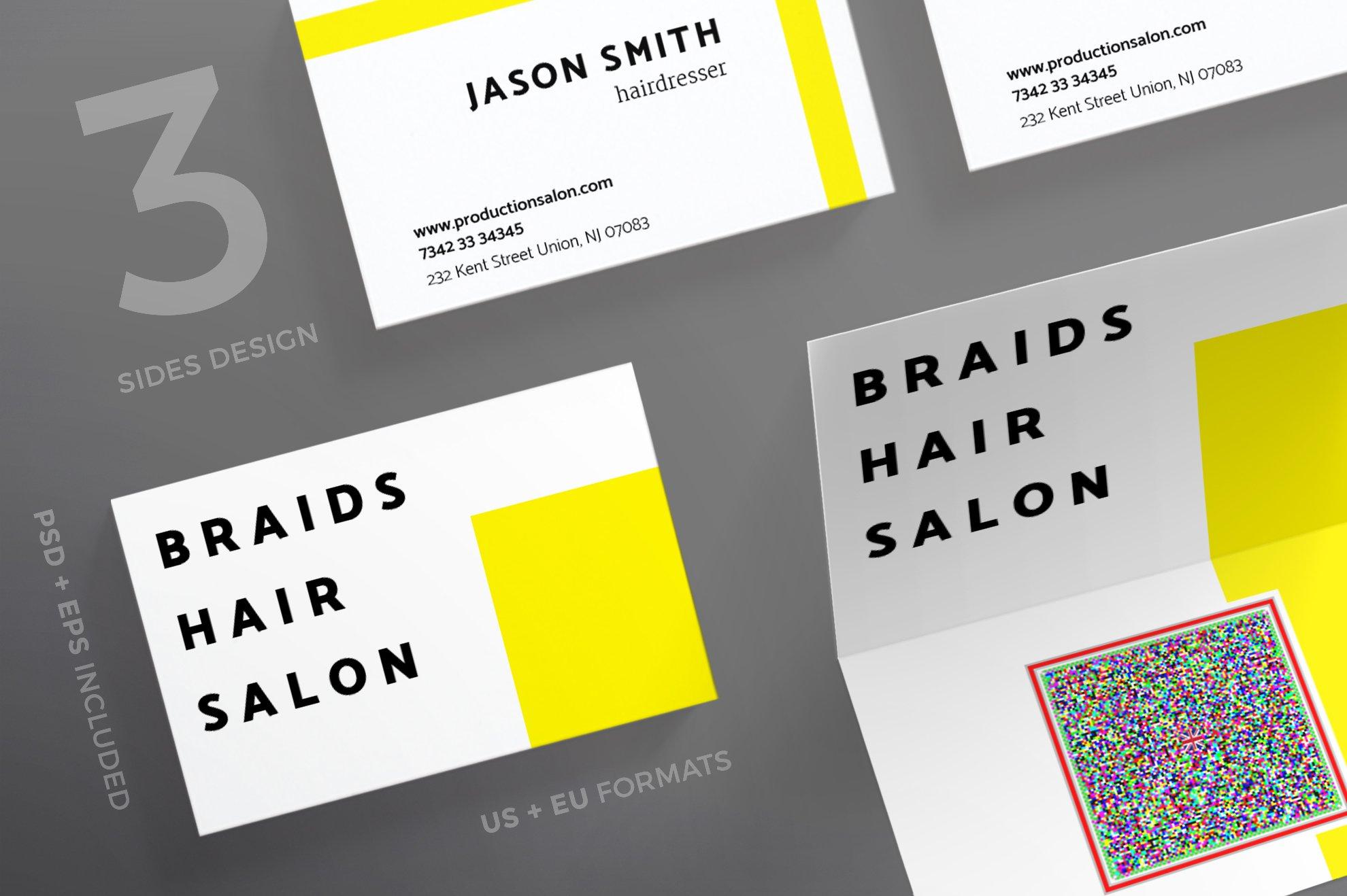 Business Cards | Braids Hair Salon ~ Business Card Templates ...