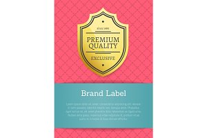 Premium Quality Brand Label Vector Illustration