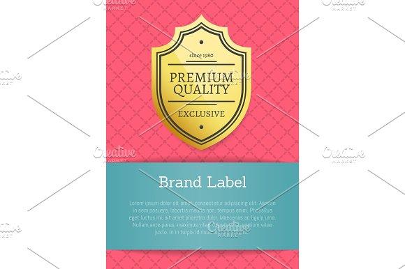 Premium Quality Brand Label Vector Illustration
