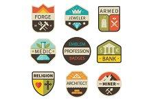 Professional emblem and badges