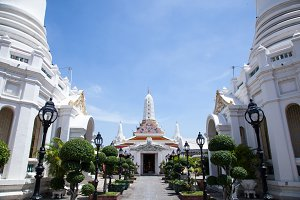 White temple Thailand.
