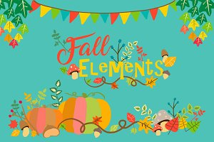 Fall Elements Clipart PNG