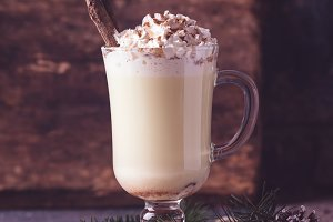 Traditional winter eggnog