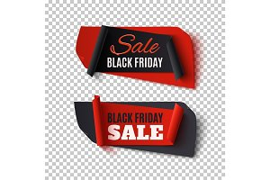 Black Friday Sale, abstract banners.