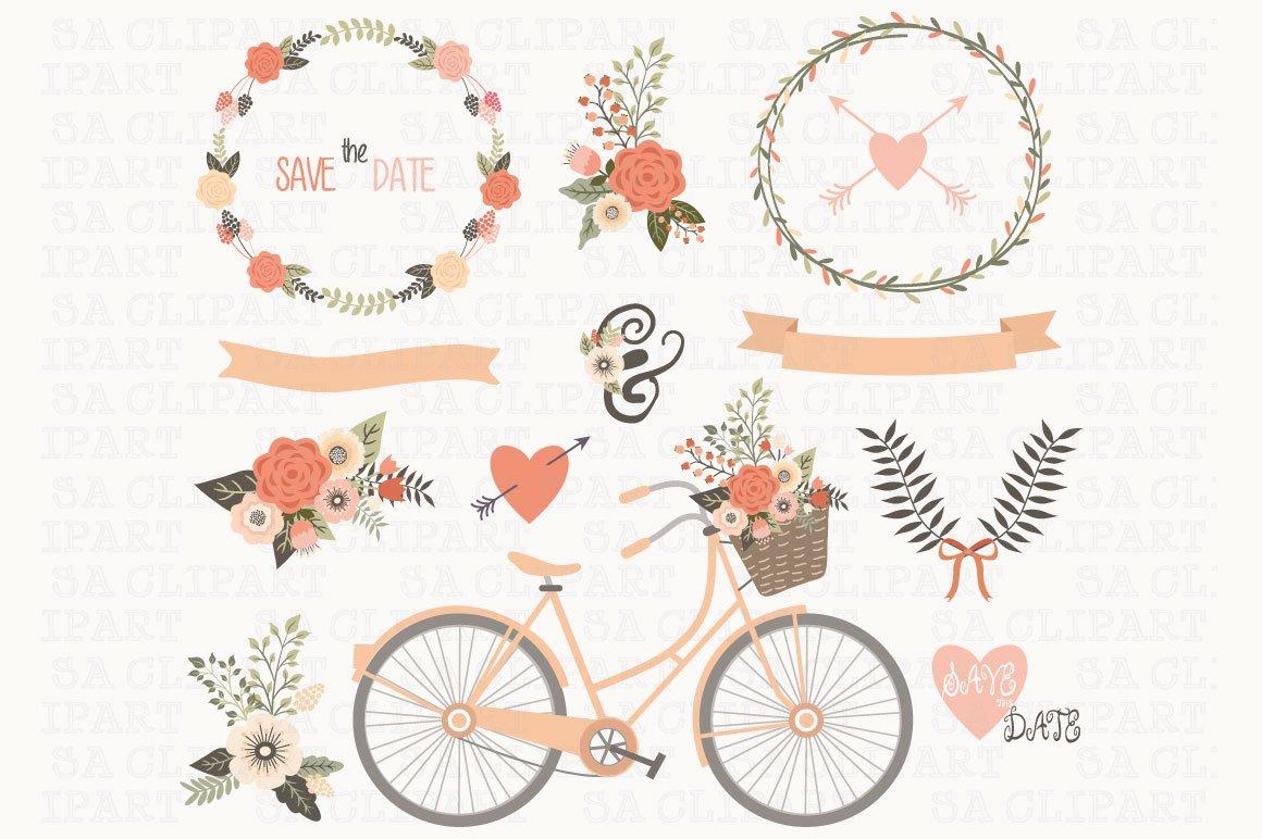 Wedding Invitation Clipart ~ Illustrations ~ Creative Market