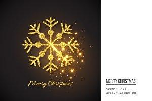 Christmas glitter snowflake