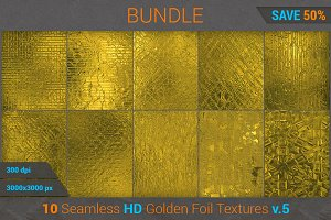 Golden Foil HD Texture Bundle (v 5)