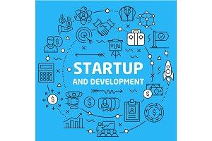 Lines Background illustration startup