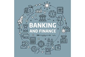 Lines Background illustration banking and finance
