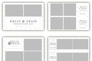 12 x Checkered Photo Booth Template