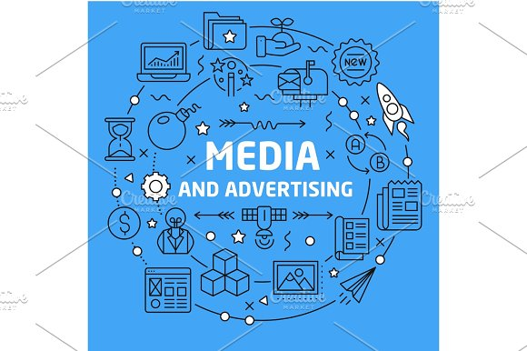 Illustration media and advertising