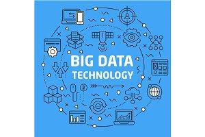 Lines Background illustration big data technology