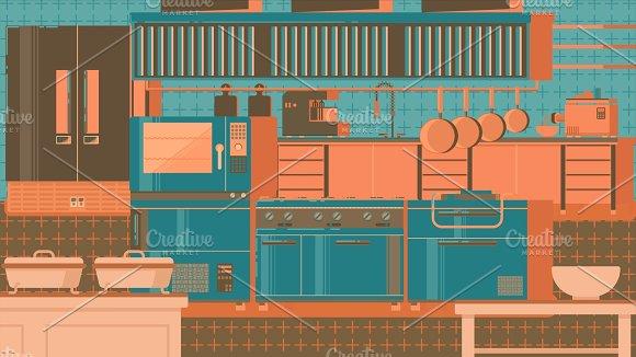 Kitchen Flat Illustration