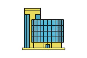 Office building color icon