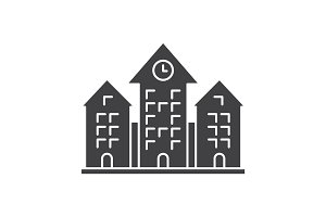 Town hall glyph icon