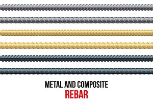 Endless rebars. Steel and composite