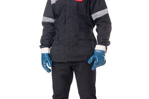 worker in safety protective gear