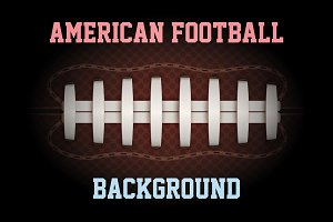 Dark Background of American Football