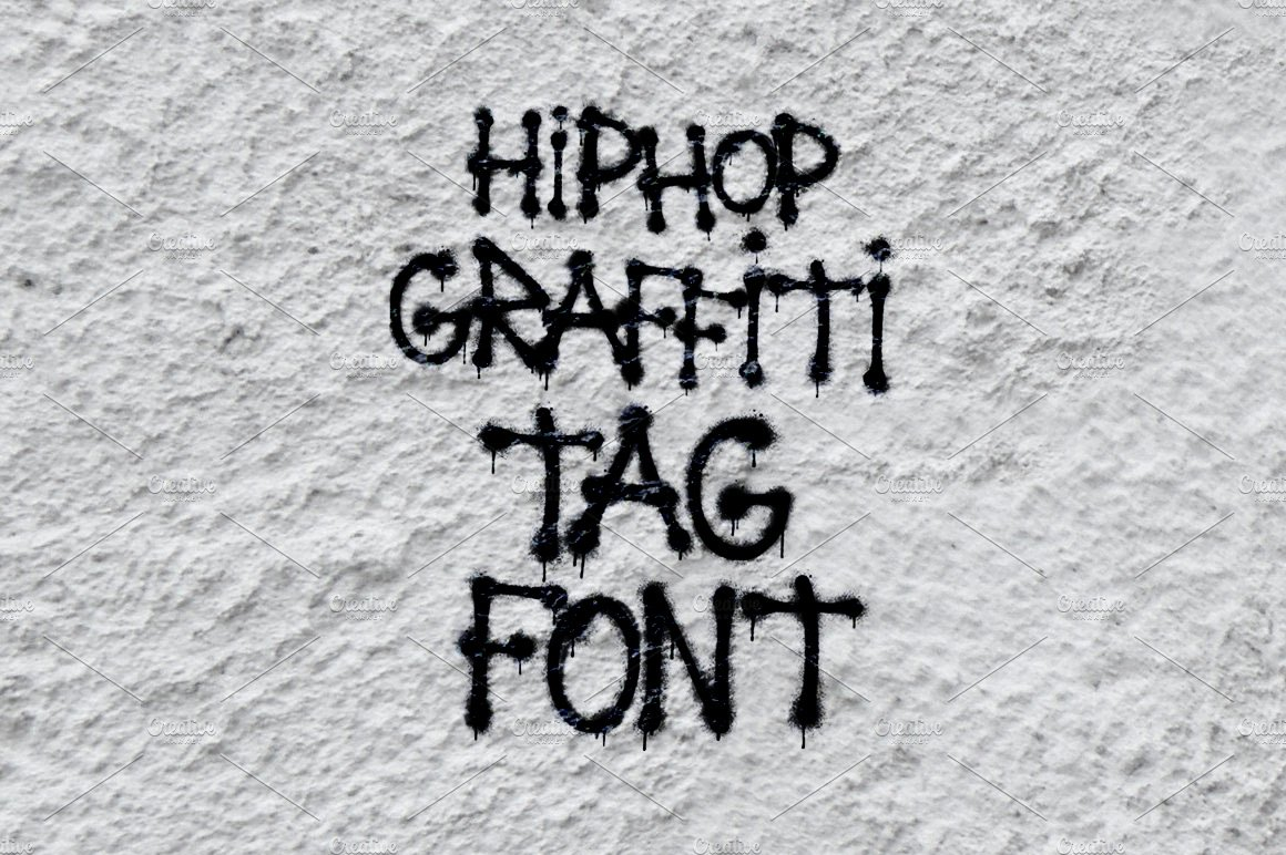 Hip hop graffiti tag