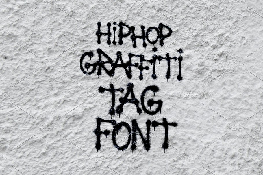 Hip Hop Graffiti Tag Spray Font