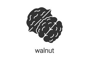Walnut glyph icon