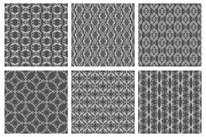 Flourish damask seamless patterns